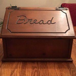 🌹LARGE NATURAL WOOD Carved Bread /Vegetable Box